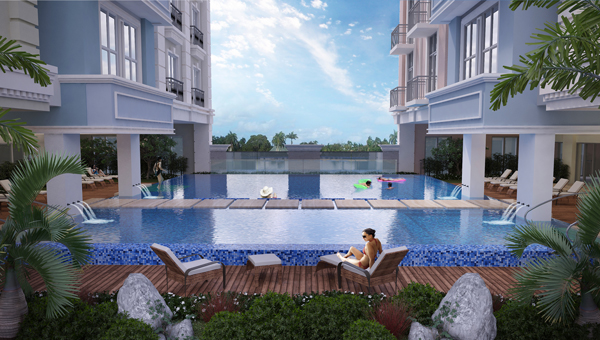 Experience the laid-back Parisian life at Saint Honore's amenity deck.
